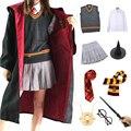 Детский костюм для взрослых школьная Униформа костюм для Хэллоуина магический школьный халат мантия волшебник вечерние карнавальный кост...