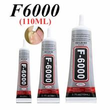 F6000 110ml líquido multiuso industrial adesivo diy jóias artesanato strass fix tela do telefone cola de vidro prego gel diy ferramenta