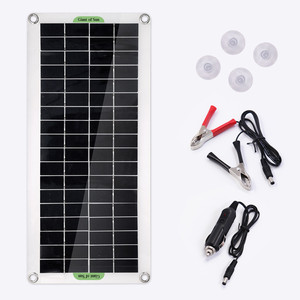 Image 5 - 220V 30W Solar Panel Battery Charger 1000W Inverter USB Kit Complete 10A Controller Solar Power System 220V Home Grid Camping