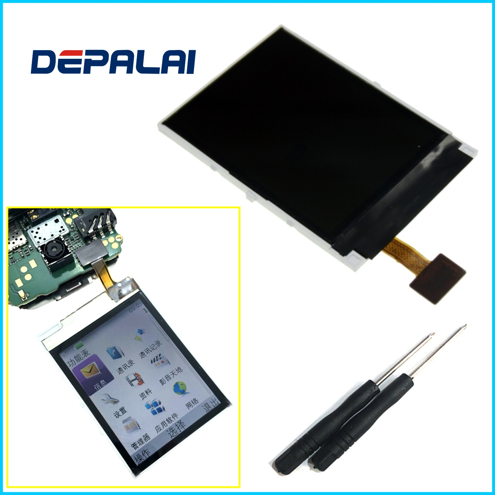 LCD Display Screen For <font><b>Nokia</b></font> 5130 N5000 C2-01 5220 3610 5220 7100S 7210C 2700 <font><b>2730</b></font> LCD + tools Test Replacement Repair Parts image