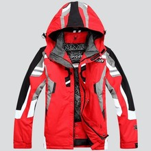 Men Winter Hooded Warm Parkas Waterproof Snow Jacket for Hiking Camping Skiing Super Warm Top Outdoor Snowboarding Skiing Jacket