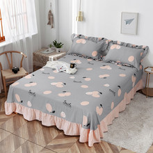 100% Cotton Orinted Sheet, Suitable For Double Bed, Single Side Sheet, Large Size Sheet Pure Cotton Floret Gray Sheet