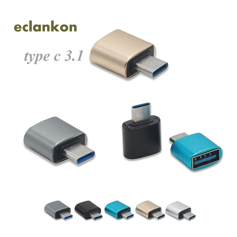 Aluminum USB 3.1 Type C OTG Adapter Micro USB Female Turn To Type C Male Converter For Samsung Galaxy Note 8 S8 Plus Huawei Zte