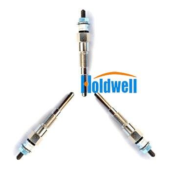 3 piezas Glow Plug 16851-65510, 16851-65512 para Kubota B1700D B21 B2100D B2400D BX2230D D722 D902 D905 KX018-4 KX41-3