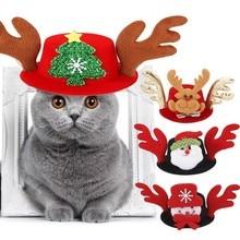 Pet Hat Decorative Christmas Dog for Puppy Kitten Cosplay Cap Small/ Medium Cat Headwear Accessories