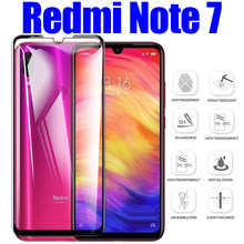 Ksiomi redmi note 7 زجاج واقي ل xiaomi redmi note 7 شاشة حماية glas المقسى scren xiomi مدرعة ورقة غطاء كامل(China)
