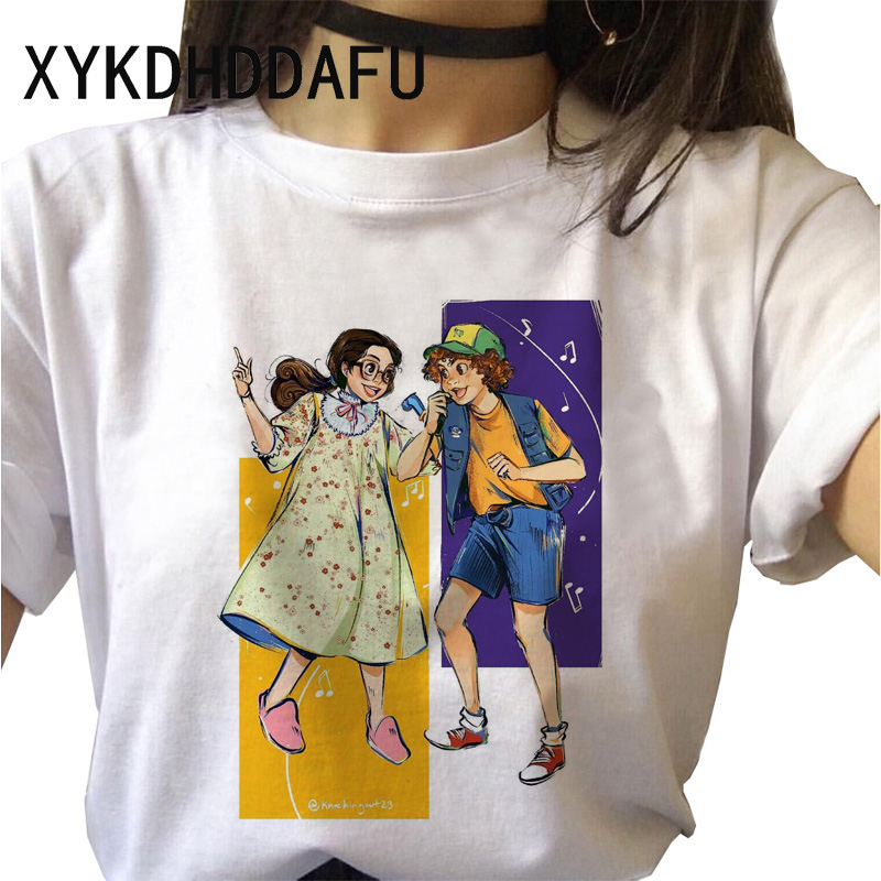 H03d583fdfed94ccd99e7d650265aa46bQ - Stranger Things T Shirt Women Harajuku Eleven Aesthetic Streetwear Clothes Vintage Tshirt Female New Summer T-shirt Top Tee