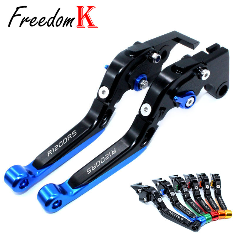 For <font><b>BMW</b></font> R1200RS R1200 RS R <font><b>1200RS</b></font> 2015 2016 2017 Motorcycle Accessories Folding Extendable Brake Clutch Levers With logo image