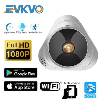 EVKVO WIFI Camera 360 Degree Panoramic Fisheye 1080P HD MINI Wireless IP Camera Indoor Home Security CCTV P2P Cloud YOOSEE App 360 degree panoramic ip camera fisheye wifi cctv cam ptz 3d vr video p2p 720p audio for home ofiice security remotely mon