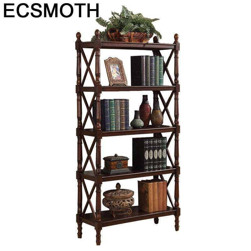 Dekoration Decor Libreria De Maison Meuble Rangement Librero Rack Shabby Chic Wood Decoration Furniture Retro Book Shelf Case