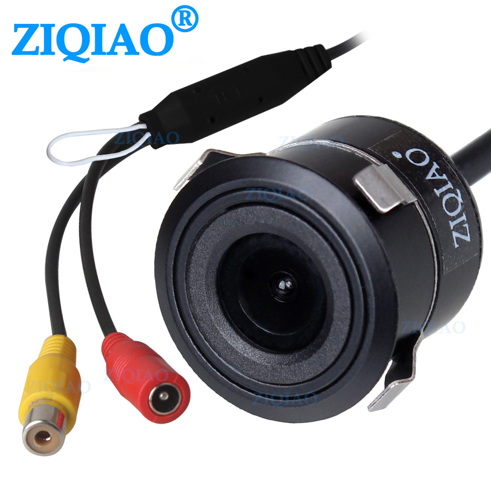 ZIQIAO Car Rear View Camera Night Vision Waterproof Reverse Parking Camera with Optional Parking Aid Ruler line HS074