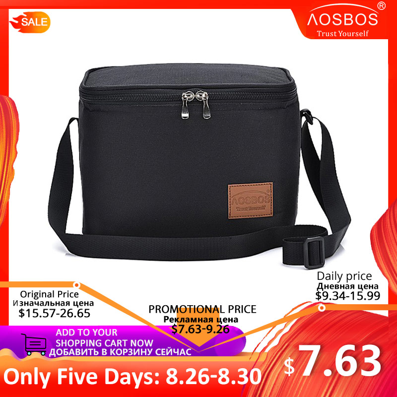 Aosbos Thermal-Lunch-Bag Bags Tote-Bag Storage-Container Picnic Cooler Shoulder-Food