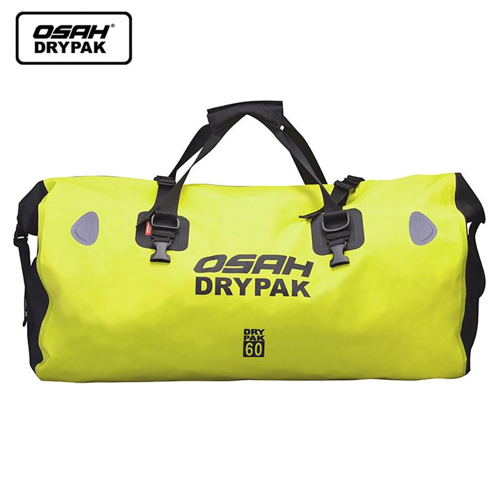 Imperméable à l'eau Moto arrière queue sac voyage sac sec OSAH DRYPAK Moto 40/60 litres Moto bagages sac à dos Moto siège sac