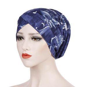 Image 2 - Gorro turbante estampado musulmán, sombrero islámico, étnico, para envolver la cabeza, hijab, gorros islámicos, turbante para interiores, 2019