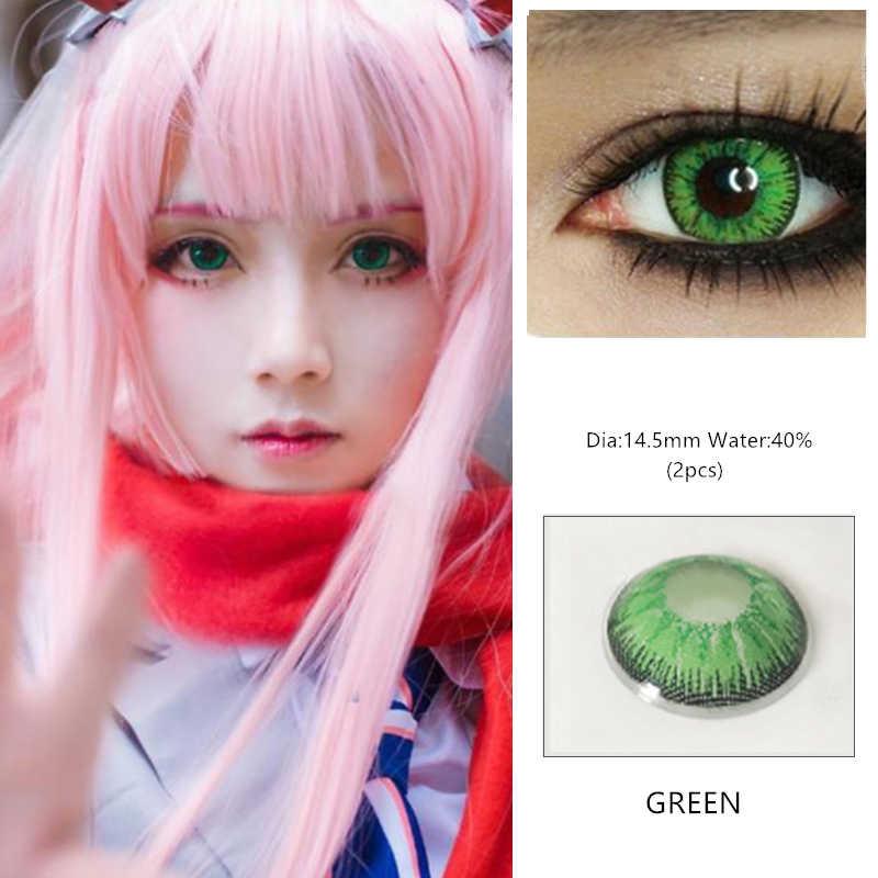 EYESHARE 1 para piękne uczeń kosmetyki do oczu kolorowe soczewki kontaktowe Halloween Cosplay soczewki szalony obiektyw do oczu