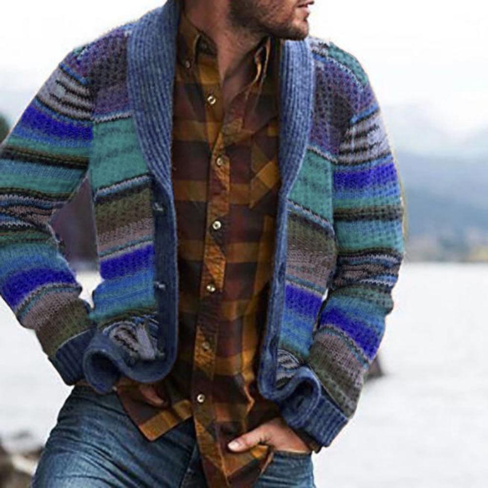Autumn Men's Sweater Hoodies Casual Long Sleeves Thickening Warm Trend Shirt Sweaters Jackets Classic Cardigan Sweater Coat Men 4