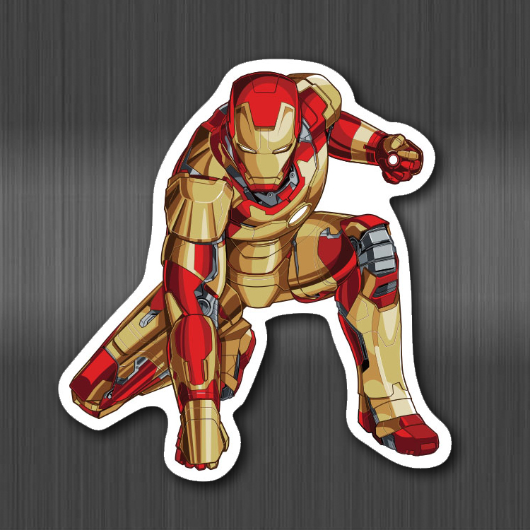 Marvel Super Hero Stickers Pattern Sticker For Skateboard Guitar Luggage Motorcycle Car Phone Laptop Kids Sticker