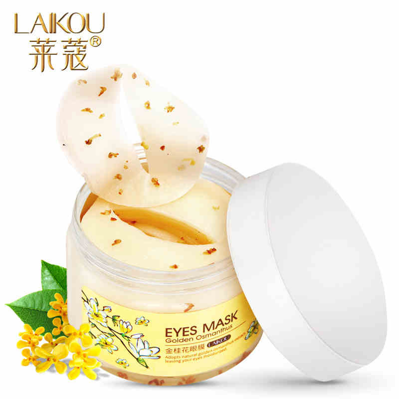[80 pcs] brand laikou Golden Osmanthus Eye Mask Remove Wrinkle Puffiness Dark Circles Bags ,High Quality a mask for eyes care