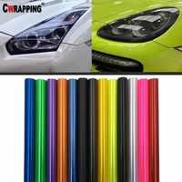 40*150cm Car Headlight Taillight Smoke Fog Light Tint DIY Film Vinyl Wrap Sticker Multicolors Decoration Decals Car Styling