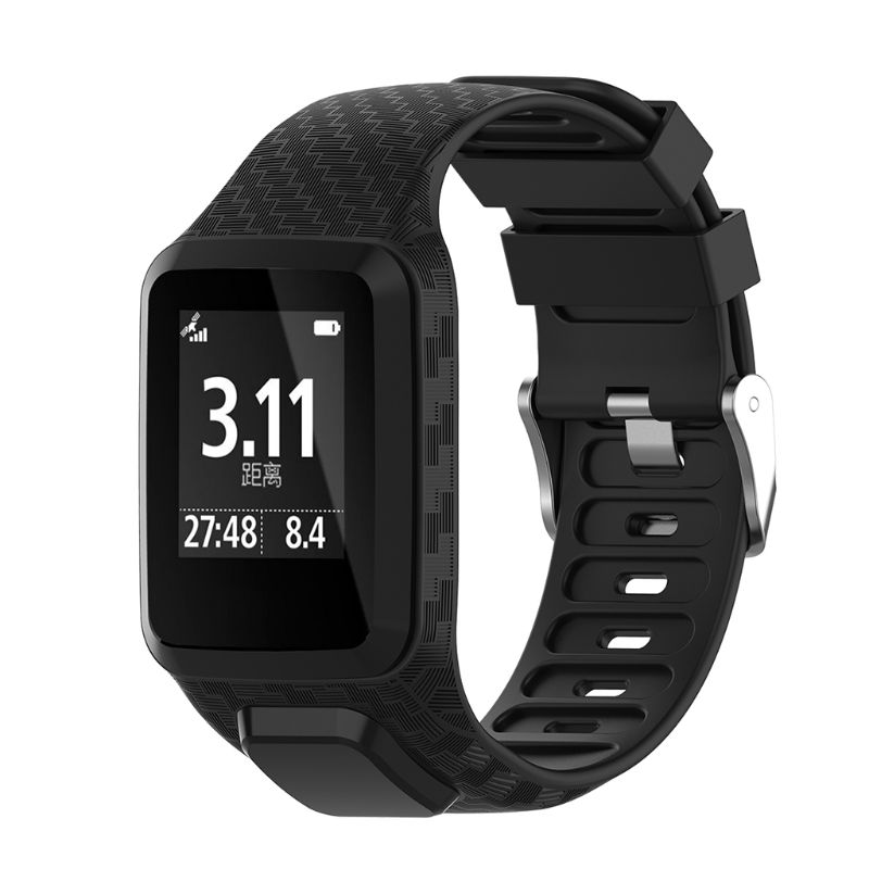 Watchband Wrist Band Soft Silicone Bracelet Strap Adjustable Flexible Sports Watch Accessories For TomTom 2 3  T4MD