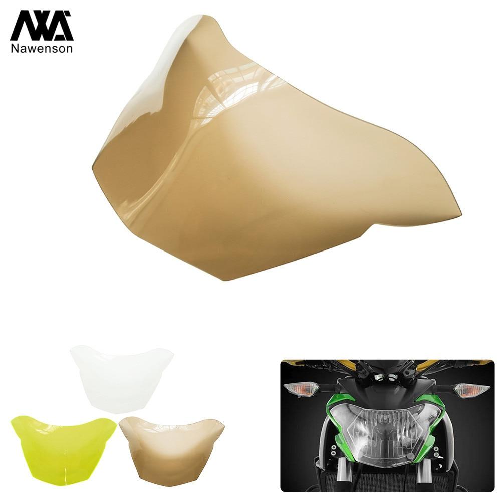 Motorcycle Headlight Screen Protector ABS Plastic Front Lamp Shield For Kawasaki Z650 Z 650 z650 2017-2018(China)