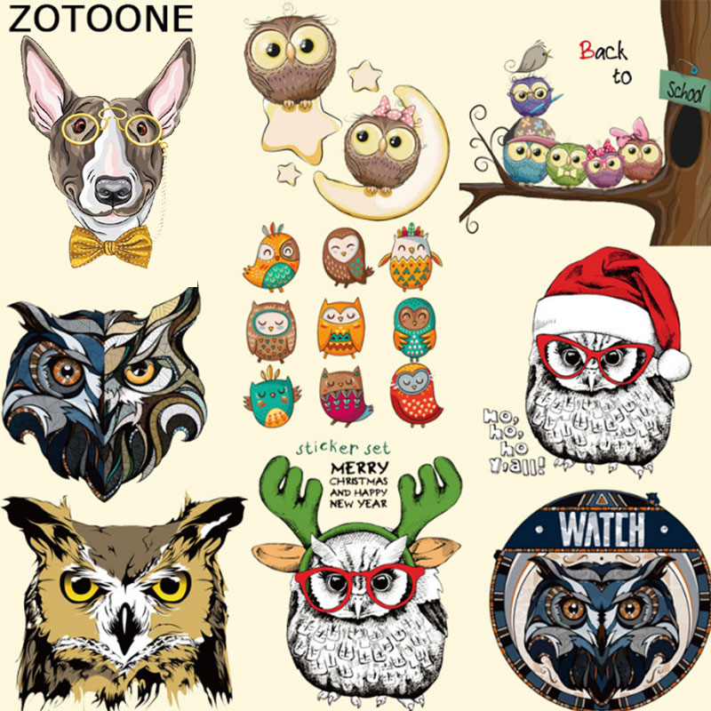 ZOTOONE Colored Animal Patches Iron on Stickers Print T-Shirt Diy Accessory New Design Clothes Decoration Washable Parches E