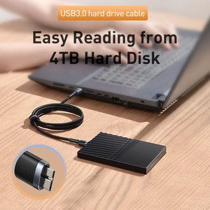 Image 4 - Baseus USB 3.0 To Micro B Cable 5GB Fast USB Type A Micro B Data Cable for Samsung S5 Note 3 HDD External Hard Drive Disk Cord
