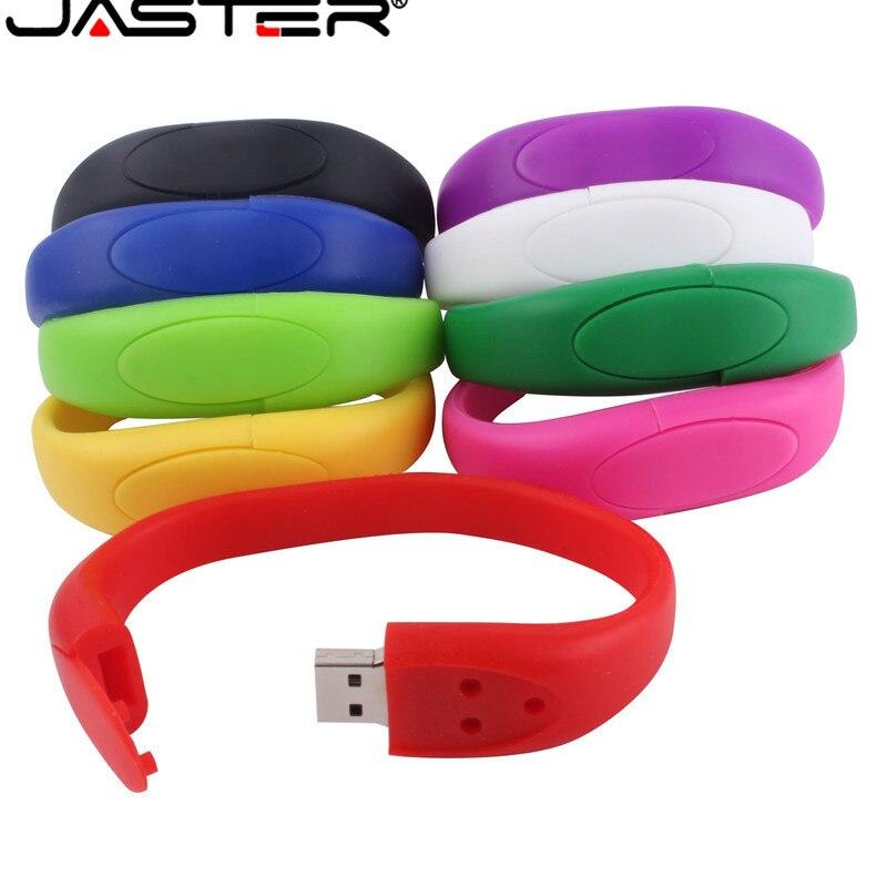 JASTER Hot Selling Creative U Disk 2.0 64GB 32GB 16GB 8GB 4GB Cartoon Three Buckle Wrist Strap Real Capacity USB Flash Drive
