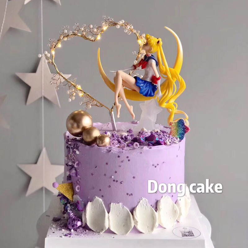 Fine Sailor Moon Tsukino Usagi Pvc Action Figure Cake Decoration Girl Personalised Birthday Cards Paralily Jamesorg
