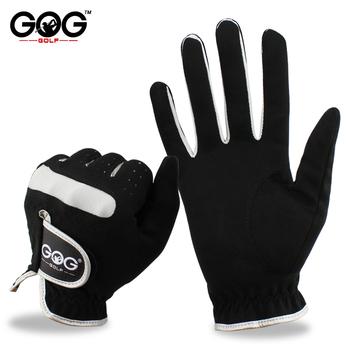 Męskie rękawice golfowe marki GOG GOLF mikro miękkie włókno lewego prawego dłoni rękawica golfowa kolor czarny Drop Ship tanie i dobre opinie Tkaniny E1ST006
