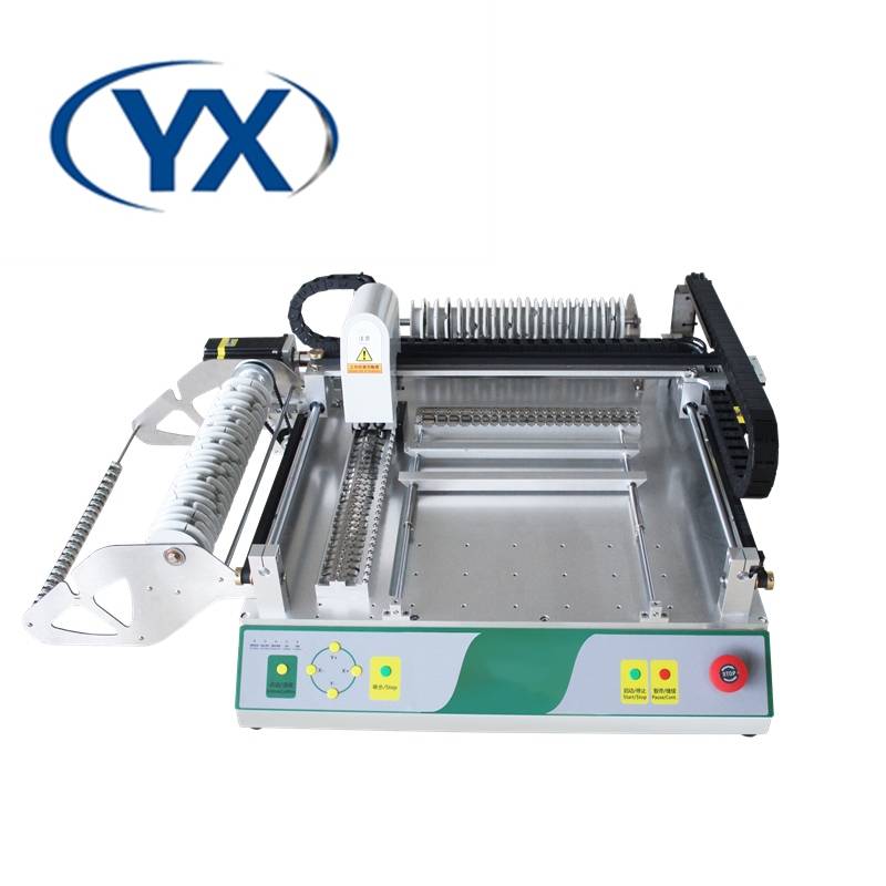 PCB Manufacturing Equipment Vision BGA Pick  amp  Place Machine SMD Mounting Machine with 46 Feeders for Electronics Production Line
