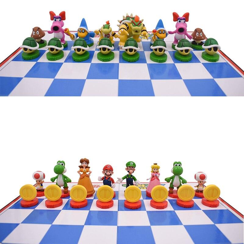 Figuras de acción de Super Mario Bros, set de 32 unidades de Yoshi, Princesa Peach, Luigi, chico timido, Odyssey, Donkey Kong, muñeco de Ajedrez de PVC - 4