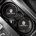 Автомобильный коврик для подстаканника, кожаные подставки для украшения Toyota CROWN 2010-2020, аксессуары для стайлинга автомобиля