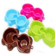 1pcs Dual Port Pet Bowl Dog Automatic Water Dispenser Feeder Utensils Cat Drinking Fountain Food Dish 3 Colors Supplies