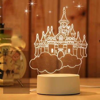 Φανταστικό Μικρό 3d led Επιτραπέζιο Φωτιστικό Για το Υπνοδωμάτιο Μικρό 3d Διακοσμητικό led Πορτατίφ για Γραφείο