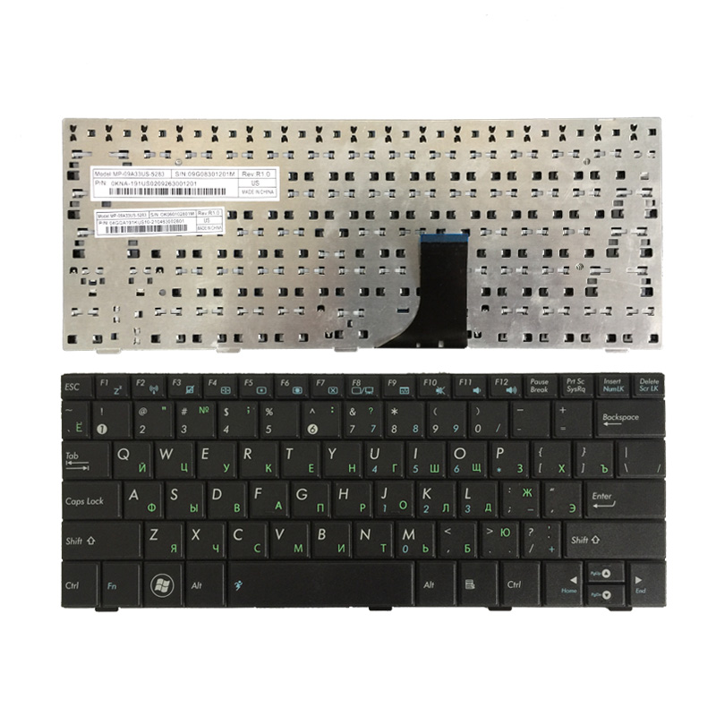 US For ASUS EPC 900 900HD 900A 2G 4G 8G 901 902 Eee PC 700 701 701SD US 4G 8.9 inch Replace laptop keyboard New Black English