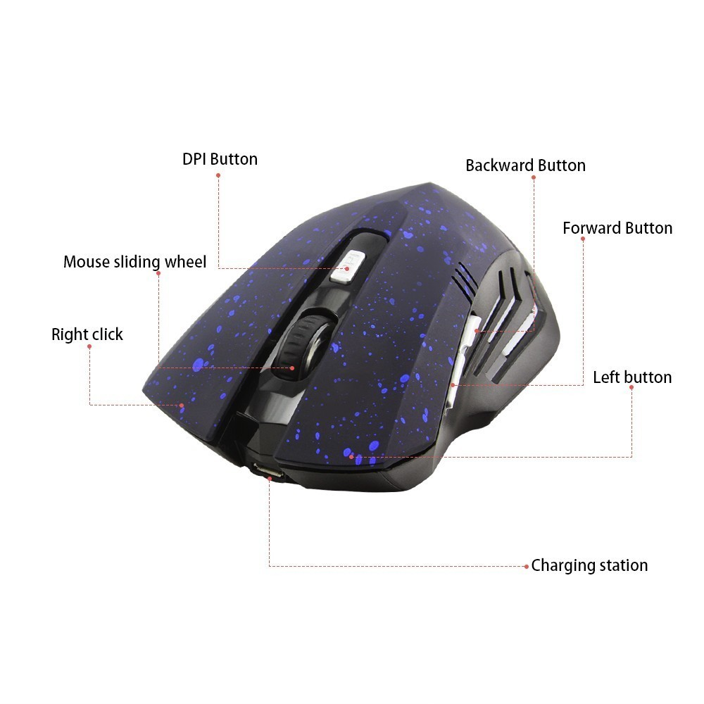 Windows Laptop FIRSTMEMORY 2.4GHz Wireless Bluetooth Mouse Slim Dual Mode Rechargeable Mouse Silent Click Noiseless Optical Mice with Adjustable DPI for PC Black