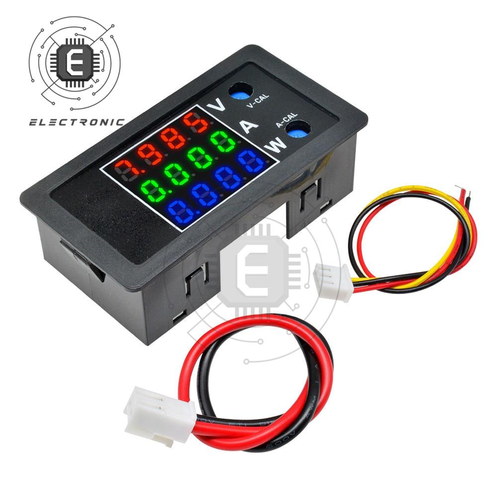 4-разрядный DC 0-100V 10A 1000W цифровой Мощность Вольтметр Амперметр Датчик-ваттметр Вольт Ампер Панель контролировать ток Напряжение тестер