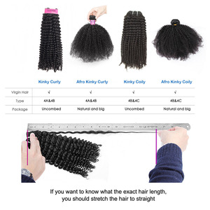 Image 5 - איבון 4A 4B קינקי מתולתל שיער טבעי חבילות עם סגירת 3 חבילות שיער ברזילאי לא מעובד שיער Weave חבילות עם סגירת 4x4