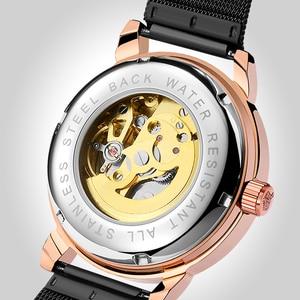 Image 5 - Reloj Hombre Orologi Automatici Mens di Sport di Modo di Maglia di Acciaio Inossidabile Della Fascia di Scheletro Meccanico Orologi da Polso Orologio da Polso per Gli Uomini