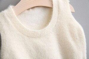 Image 4 - בנות בגדים סטי בגדי ילדי סתיו אופנה סגנון בנות שמלה + סוודר אפוד 2Pcs חליפת תינוק ילדים בגדים עם גדול קשת 0 4Y