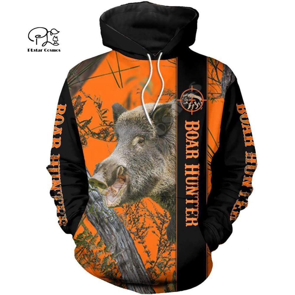 Men Unisex Harajuku Hunting Boar Bow Hunter Print 3d Hoodie Sweatshirt Zipper Women Pullover Streetwear Jacket Tracksuit Coat