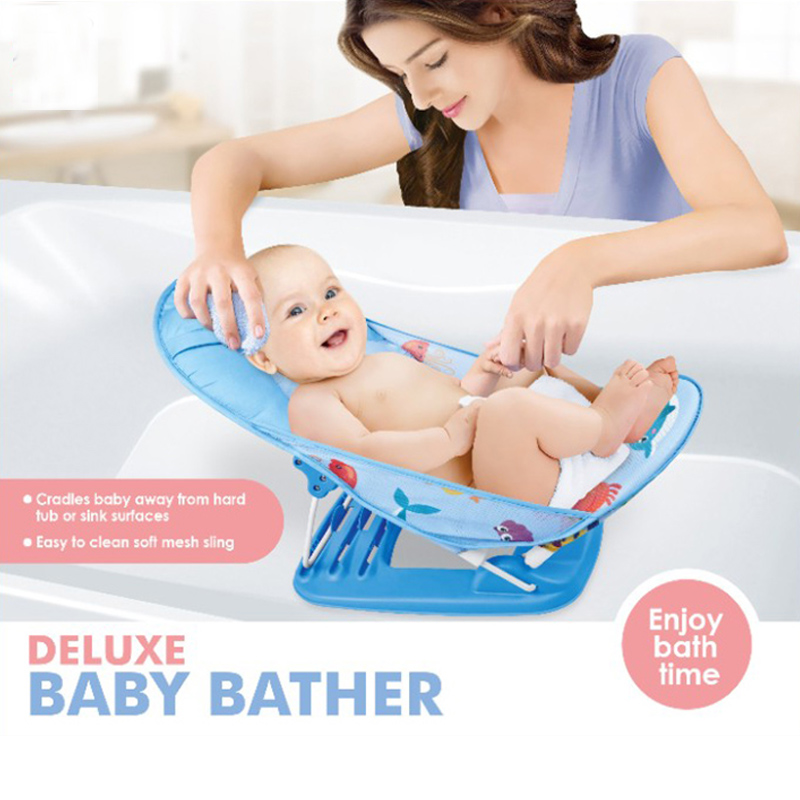 Portable Baby Bath Tub/Bed/Pad Foldable Baby Shower Chair/Shelf Baby Shower Nets Newborn Baby Bath Seat Infant Bathtub Support