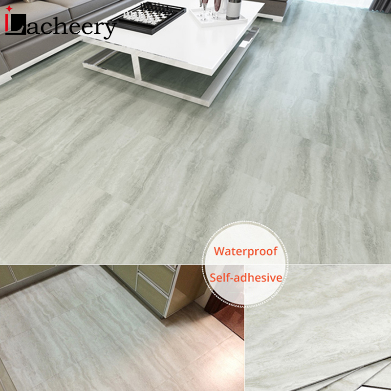 Waterproof Floor Stickers Self Adhesive Marble Wallpapers Kitchen Wall Sticker House Renovation DIY Wall Ground Paster Decor 3