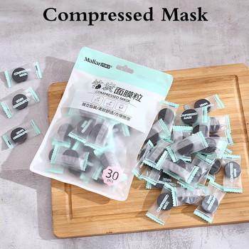 30 sztuk worek bambusowy węgiel drzewny skompresowana maska papieru podróży przenośne narzędzia DIY nawilżający wybielanie pielęgnacji skóry TSLM2 tanie i dobre opinie LANBENA Owinięte maska Całą twarz Unisex Jedna jednostka CN (pochodzenie) Żel non-woven fabric Compressed Mask Drop shipping