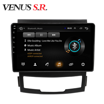 VenusSR Android 8.1 2.5D car dvd for SsangYong Korando 2011-2013 multimedia headunit GPS Radio stereo gps navigation image