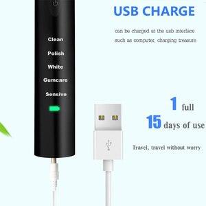 Image 3 - Mạnh mẽ Cực Sonic Sonic Bàn Chải Đánh Răng Điện USB Tặng Cục Sạc Bàn Chải Đánh Răng Có Thể Rửa Điện Tử Làm Trắng Răng Bàn Chải