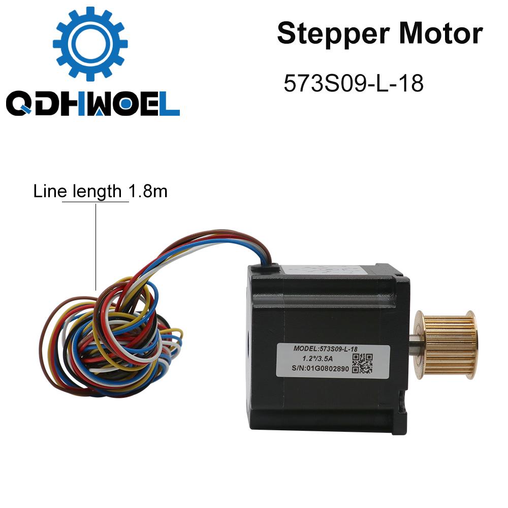 H03d833cf86d34e95986586ba5afe33bav - QDHWOEL Leadshine 3 Phase Stepper Motor 573S09-L-18 for NEMA23 3.5A Length 50mm Shaft 6.35mm