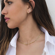 FIGARO CHAIN CHOKER NECKLACE IN GOLD COLOR STAINLESS STEEL SHORT MINIMALIST TRENDY STACKING BOHO JEWELRY