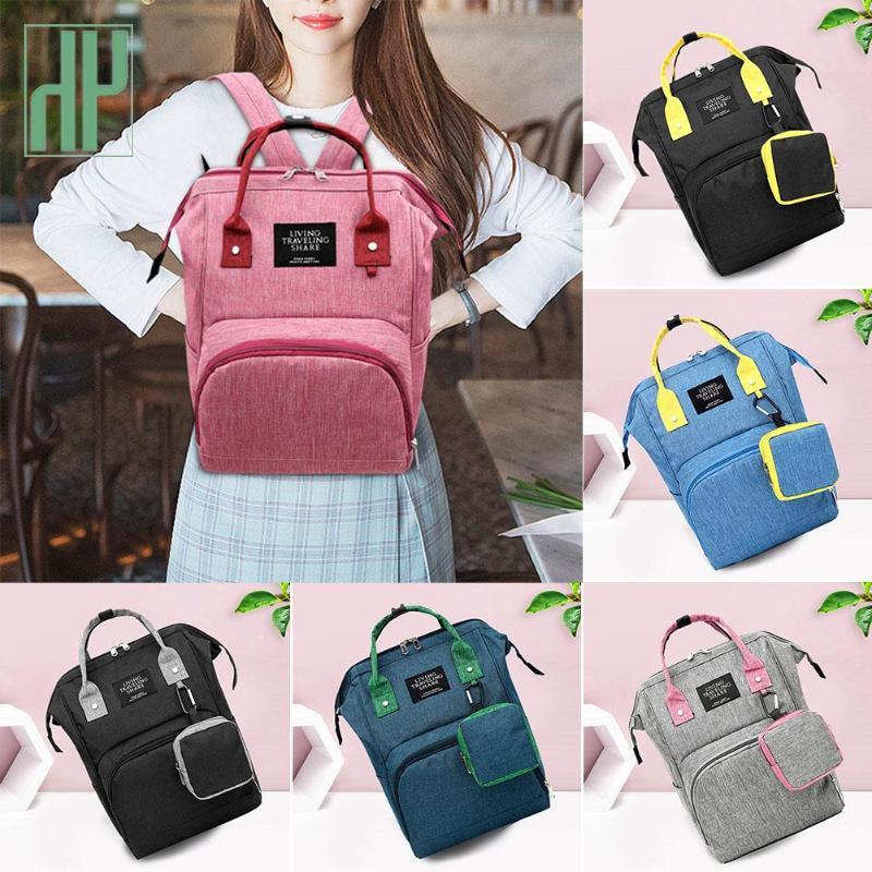 2019 New Fashion Mummy Diaper Bag Stripe Large Capacity Mommy Backpack Women Travel Shopping Nursing Storage Nappy Organizer Bag